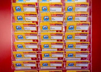 Gablota z kartami PVC